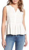 Cupcakes And Cashmere Women's Hughes Embroidered Peplum Top