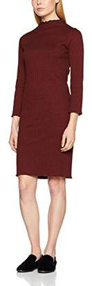Selected Women's Sfhamina 3/4 T-Neck Dress Dress,(Manufacturer Size: Small)