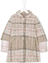 Herno Kids plaid padded midi coat
