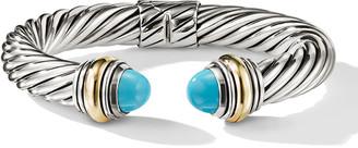 David Yurman Cable Classics Silver Kick Cuff Bracelet w/ 14k Gold