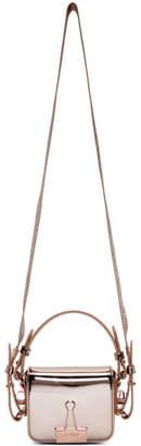 Off-White Pink Mirror Baby Flap Bag