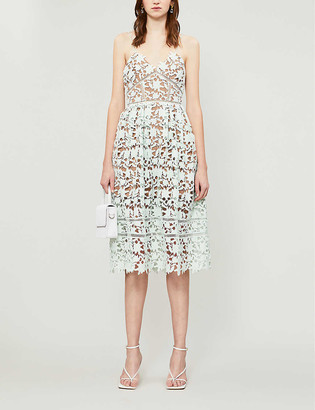 Self-Portrait Azalea floral-lace midi dress