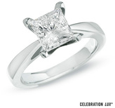 Zales Celebration Lux® 3 CT. Diamond Solitaire Engagement Ring in 14K White Gold (I/SI2)