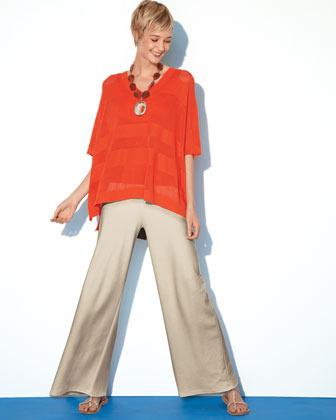 Joan Vass Wide-Leg Ponte Pants, Women's