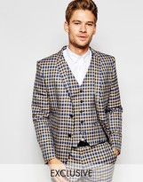 Selected Exclusive Heritage Check Suit Jacket in Skinny Fit