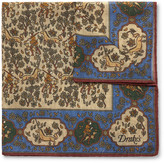 Drake's - Printed Wool And Silk-blend Pocket Square