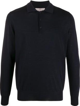 Canali long-sleeved polo shirt