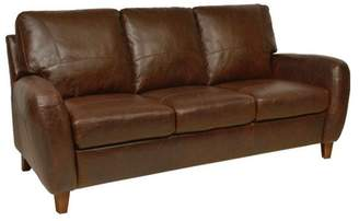 Luke Leather Genuine Italian Leather Sofa in Antique Tan