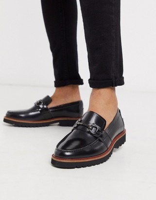Silver Street chunky sole loafer in black