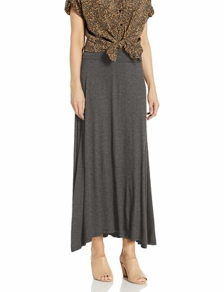 Amy Byer Women's Solid Maxi Skirt