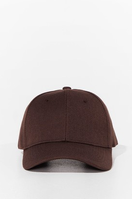 Nasty Gal Womens Come to a Head Corduroy Baseball Cap - Brown - One Size