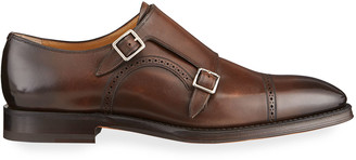 Bally Men's Scardino Scribe Leather Double-Monk Loafers