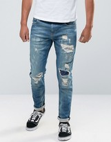 Scotch & Soda Scotch and Soda Ripped Skinny Fit Jeans