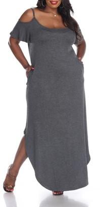 White Mark Women's Plus Size Lexi Maxi Dress