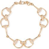 Gucci 18-karat Gold Diamond Horsebit Bracelet - one size