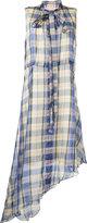 Marni plaid asymmetric dress