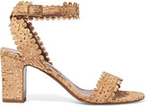 Tabitha Simmons Leticia Perforated Cork And Leather Sandals - Beige