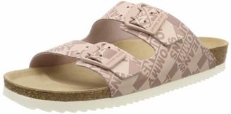 Tommy Jeans Hilfiger Denim Women's Allover Print Flat Sandal Flip Flops