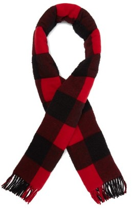 Gucci Quilted Checked-wool Scarf - Mens - Black Red