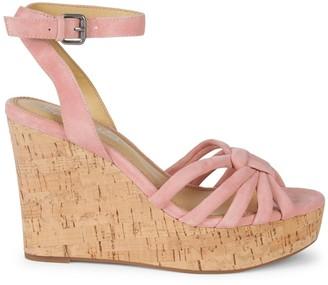Splendid Fallon Suede Wedge Sandals