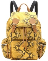 Burberry The Large Printed Fabric And Leather Backpack