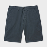 Paul Smith Men's Washed Grey Garment-Dyed Stretch Pima-Cotton Shorts