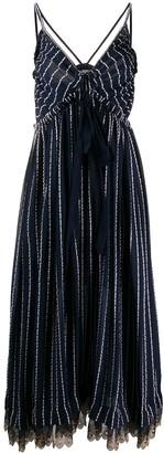 Chloé Striped Midi Dress