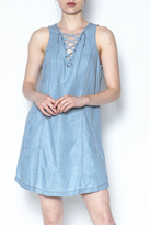 Jack Tie Front Denim Dress