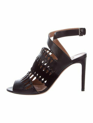 Alaia Karung Sandals Black