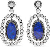Amrapali 18-karat Gold, Silver, Opal And Diamond Earrings - Blue