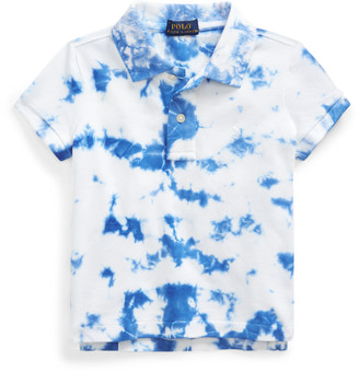 Ralph Lauren Tie-Dye Stretch Mesh Polo