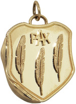 Foundrae Large Pax Vestige Crest Shield Medallion - Yellow Gold