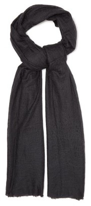 Allude Fringed-edge Cashmere Scarf - Womens - Grey