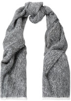 Brunello Cucinelli Fringed Marled Alpaca And Wool-Blend Scarf