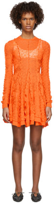 Stella McCartney Orange Lace Linear Dress