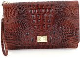 Brahmin Melbourne Collection Lily Crocodile-Embossed Pouch