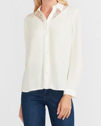 Express Lace Pieced Portofino Shirt