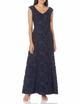Thumbnail for your product : Alex Evenings Women's Long A-Line Rosette Dress - Discontinued