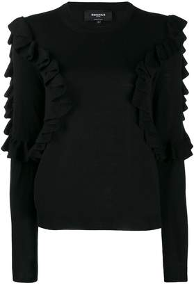 Rochas sweatshirt with frill trim