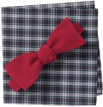 Original Penguin Ever Solid Bow Tie & Pocket Square Set