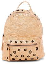 Urban Expressions Jasper Vegan Leather Mid Backpack with Grommet Details