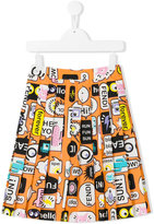 Fendi printed skirt - kids - Cotton - 4 yrs