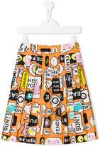 Fendi printed skirt - kids - Cotton - 6 yrs