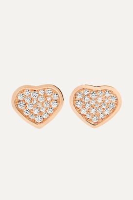 Chopard Happy Hearts 18-karat Rose Gold Diamond Earrings - one size