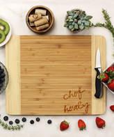 'Chef' Corner Personalized Bamboo Cutting Board