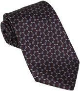 Brioni Mens Geometric Patern Printed Silk Necktie