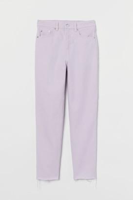 H&M Slim Mom High Ankle Jeans - Purple