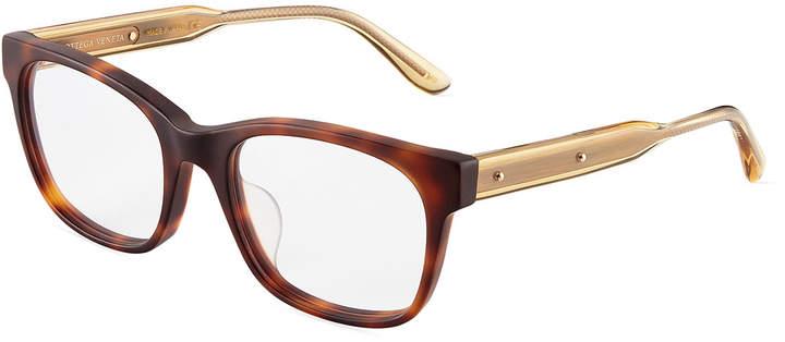 Bottega Veneta Two-Tone Modified Cat Eye Optical Glasses