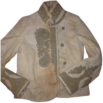 Ermanno Scervino Beige Shearling Jacket for Women Vintage
