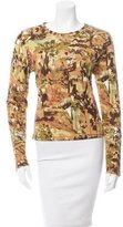 David Meister Printed Long Sleeve Top